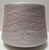 Слонимская пряжа для вязания в бобинах - полушерсть № 891 - АНГОРА -