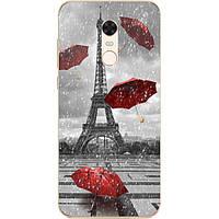 Чехол силиконовый для Xiaomi Redmi 5 Plus с рисунком Дождь в Париже