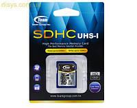 Карта памяти SDHC  16GB UHS-1 Class 10 Team  (TSDHC16GUHS01)