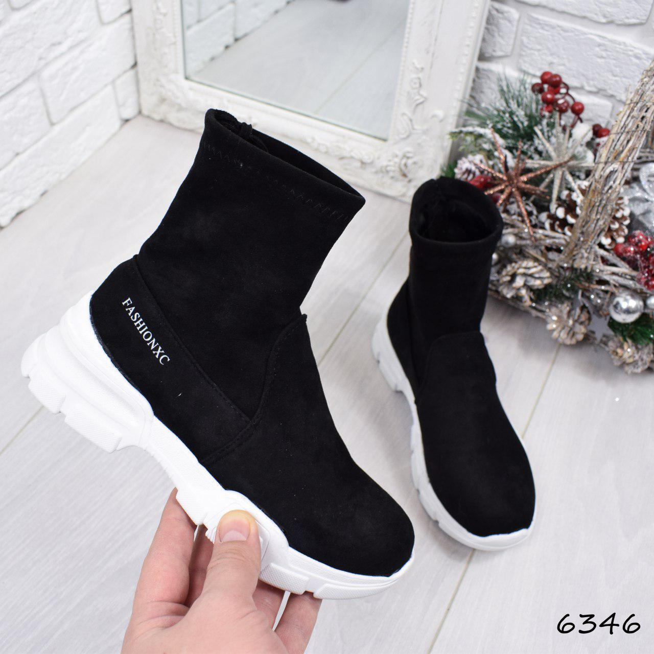 """Кроссовки, кеды, мокасины черные в стиле """"Balenciaga"""" эко замша, спортивная, повседневная женская обувь"""