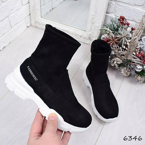 """Кроссовки, кеды, мокасины черные в стиле """"Balenciaga"""" эко замша, спортивная, повседневная женская обувь, фото 2"""