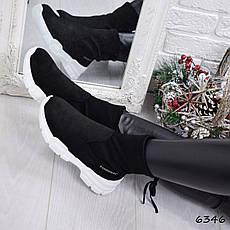 """Кроссовки, кеды, мокасины черные в стиле """"Balenciaga"""" эко замша, спортивная, повседневная женская обувь, фото 3"""