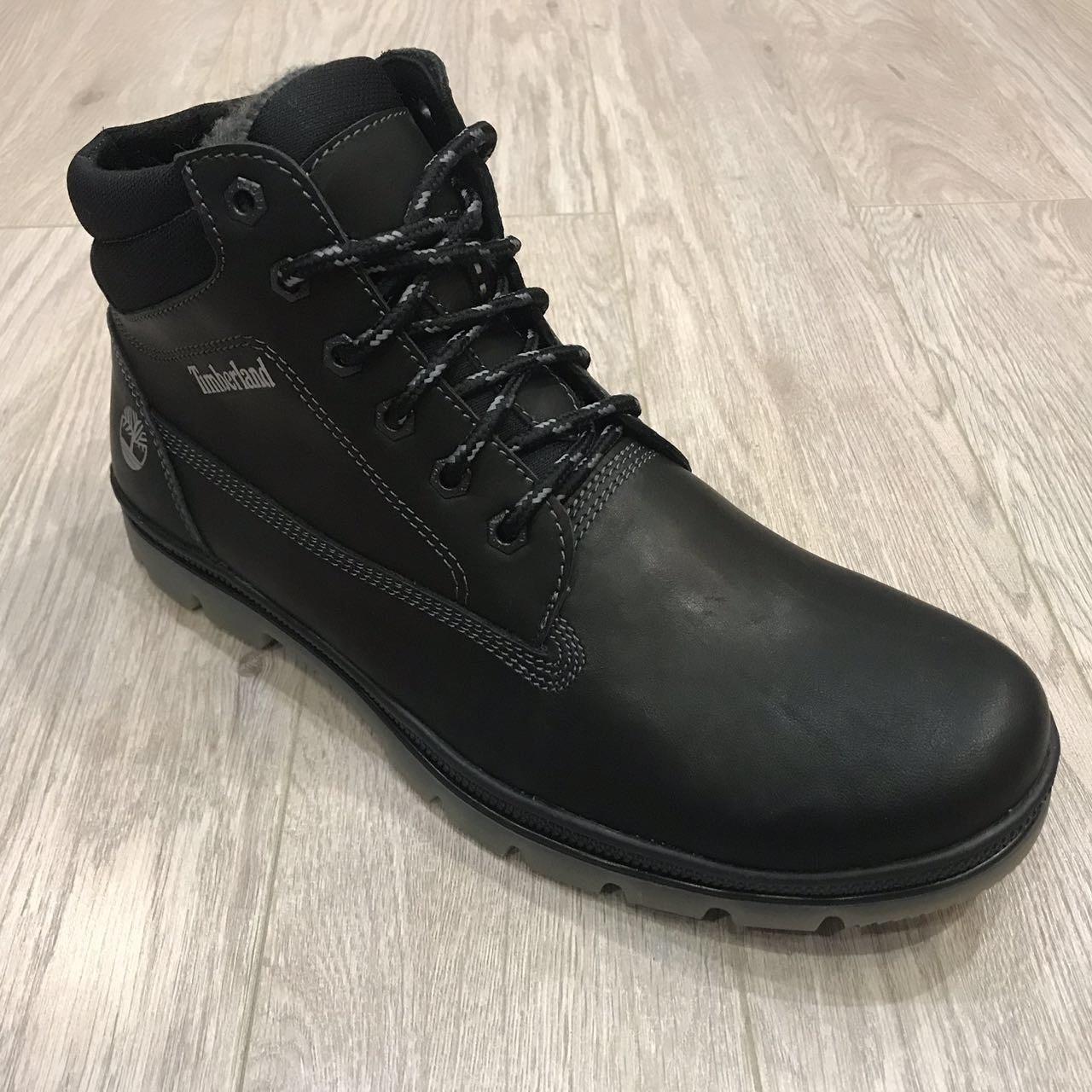 Мужские зимние ботинки Timberland (Большие размеры) / черные / р.46-50