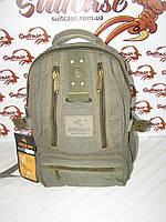 Качественные, надежные и прочные рюкзаки из брезента Goldbe - хаки, средний\ 40х25э20