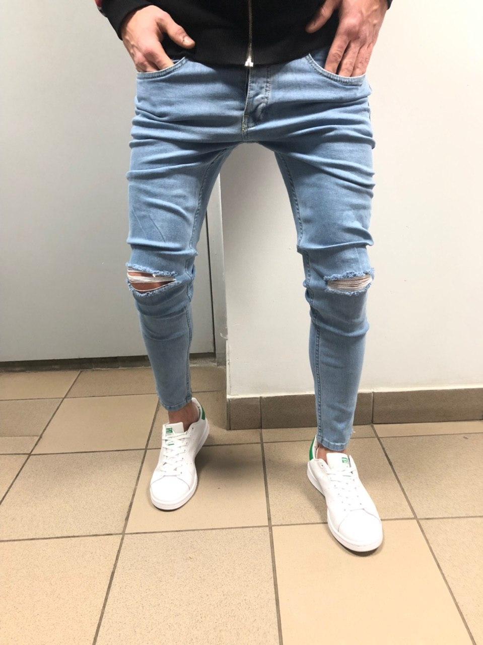 Чоловічі джинси (рвані)