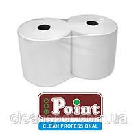 Протирка бумажная белая Eco Point 1000 отрывов двухслойная 26см, фото 2