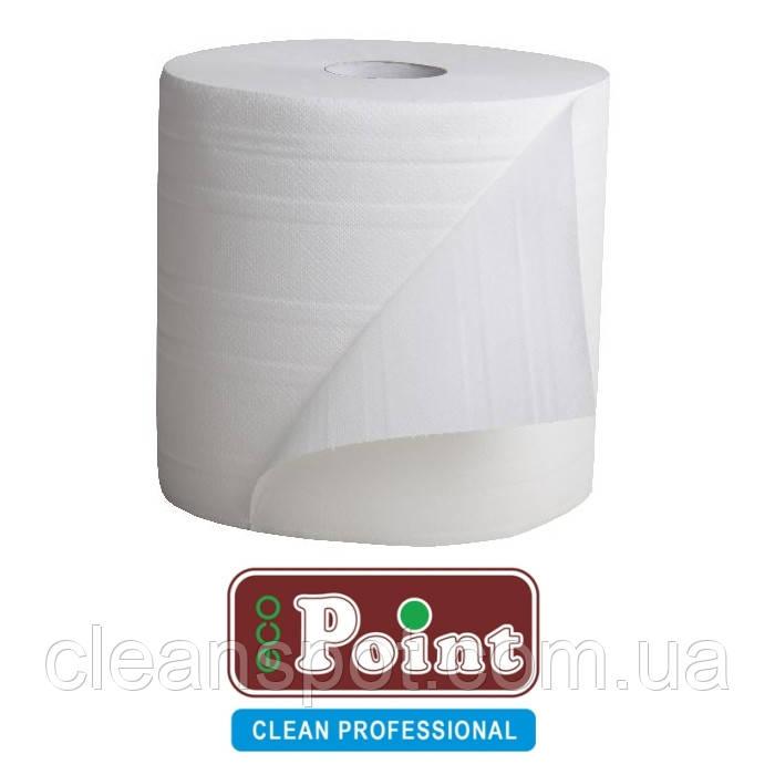 Протирка бумажная белая Eco Point 1000 отрывов двухслойная 26см