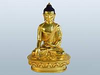 Статуя. Бронза. Будда Шакьямуни (20х13х10 см) Золотой