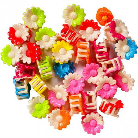 Заколка-крабик цветочек 100 штук 954 , фото 2