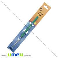 Крючок для вязания тефлоновый с пластиковой ручкой Pony (Индия), 2,0 мм, 1 шт (YAR-024541)