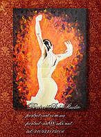 Фламенко. Картина холст масло