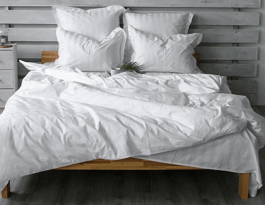 Комплект постельного белья Белоснежный страйп-сатин