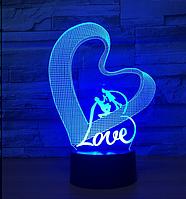 Светильник 3D 1093 (Love 2)