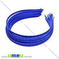 Обруч металлический с атласной лентой, 6 мм, Синий, 1 шт (OSN-014696)