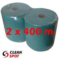 Протирка бумажная зеленая Ekonom 400м однослойная без отрывов 28 см