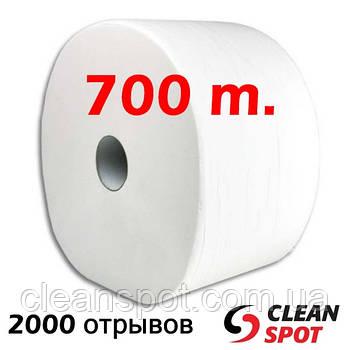 Протирка бумажная белая Top 700м двухслойная 2000 отрывов 26 см