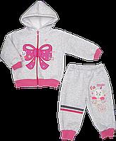 Детский спортивный костюм (теплый): кофта на молнии с капюшоном, штаны, начес, Турция, р. 74, 80