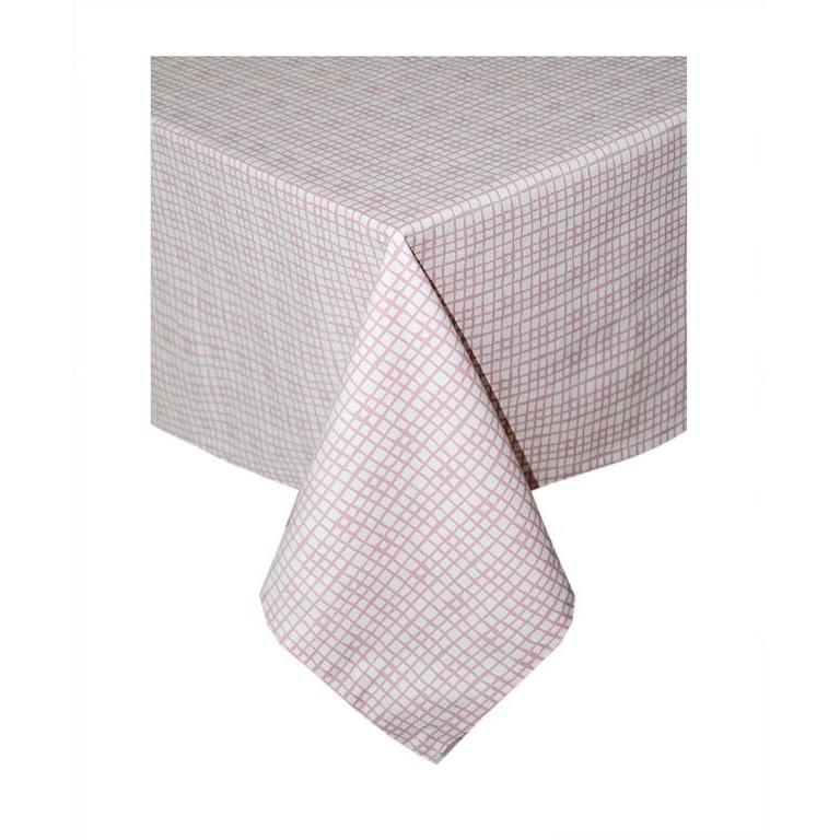 Скатерть на стол розовая клетка 140*140