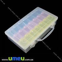 Органайзер для хранения бисера на 21 съемную ячейку, 22х13 cм, 1 шт (INS-011090)