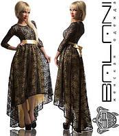 Платье с атласным подкладом - 843.