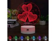 Светильник 3D1105 ( I love you)