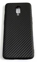 Чохол для OnePlus 6T силіконовий карбон