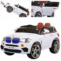 Детский электромобиль BMW X5 джип M 3102(MP4)EBLR-1 белый Гарантия качества Быстрая доставка