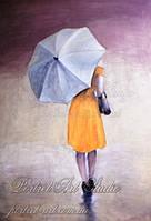 Дождливый день. Картина холст масло. Копии картин