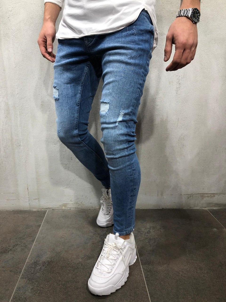 Мужские джинсы (светлые голубые)