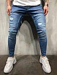 Мужские джинсы (светлые голубые), фото 2