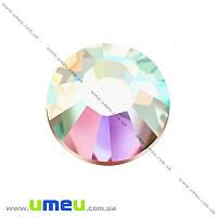 Стразы стеклянные горячей фиксации SS30 (6,3 мм), Белые АВ, 1 шт (STR-019225)