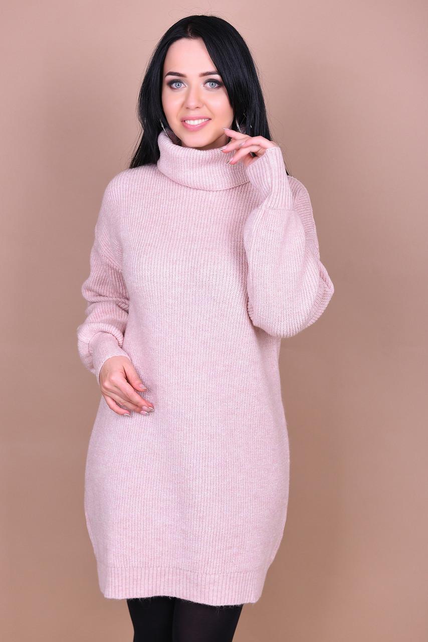 ecf0d17d75d Женское Вязаное Платье-туника