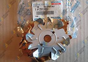 Крыльчатка вентилятора генератора (95А) Ланос,Нубира