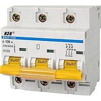 """Автоматичний  вимикач ВА 47-100 3р . 100 А 10 КА ІЕК """"С"""""""