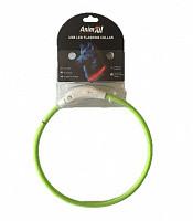 Нашийник що світиться Енімал AnimAll для собак LED 70 см салатовий (з підзарядкою USB)