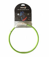 Светящийся ошейник Энимал AnimAll для собак LED 70 см салатовый(с подзарядкой USB)