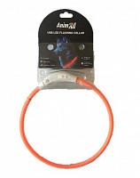 Нашийник що світиться Енімал AnimAll для собак LED 50 см помаранчевий (з підзарядкою USB)