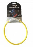 Нашийник що світиться Енімал AnimAll  для собак LED 35 см жовтий (з підзарядкою USB)