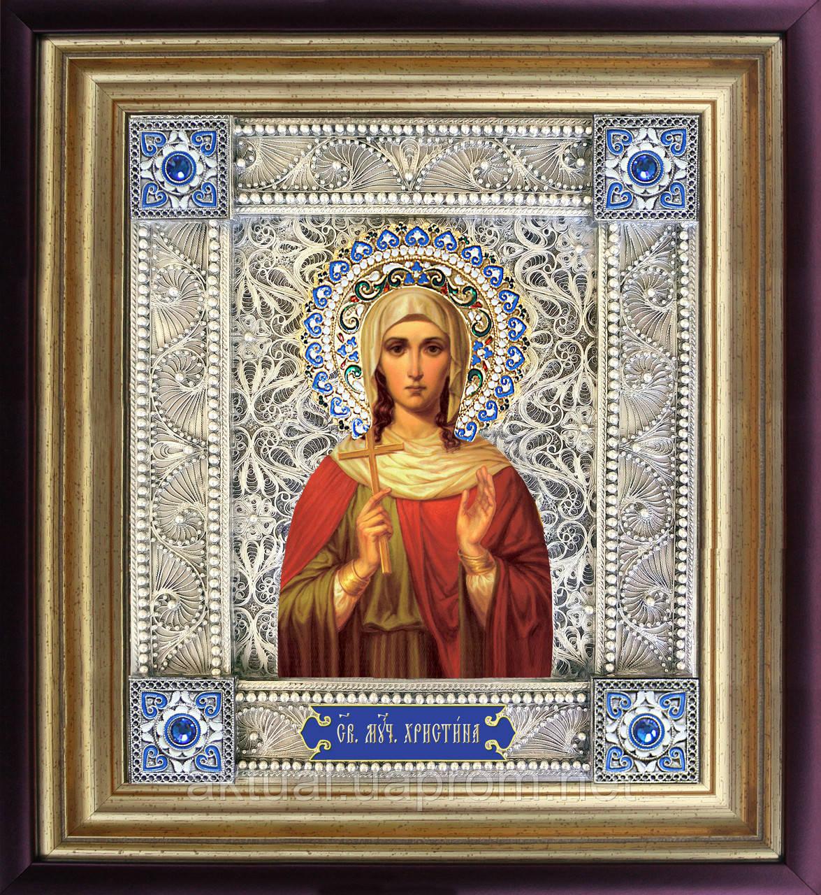 Святая Кристина икона  скань