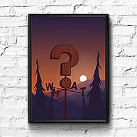 Постер с рамкой Gravity Falls #1