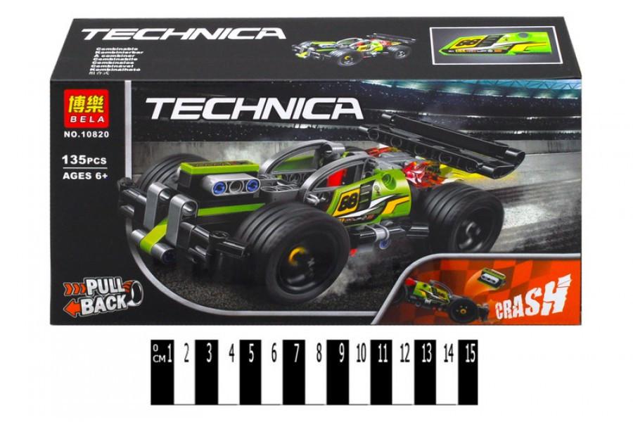 Конструктор Bela Technica 10820 Зеленый гоночный автомобиль, 135 дет, бела техник