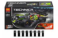 Конструктор Bela Technica 10820 Зеленый гоночный автомобиль, 135 дет, бела техник, фото 1