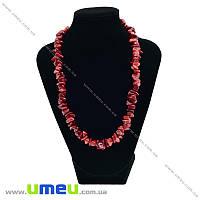 Бусы из натурального камня Коралл красный, 46 см, 1 нить (BUS-027286)