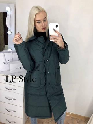 Стеганая куртка с воротником европейка, фото 2