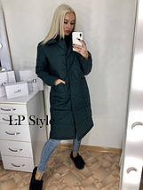 Стеганая куртка с воротником европейка, фото 3