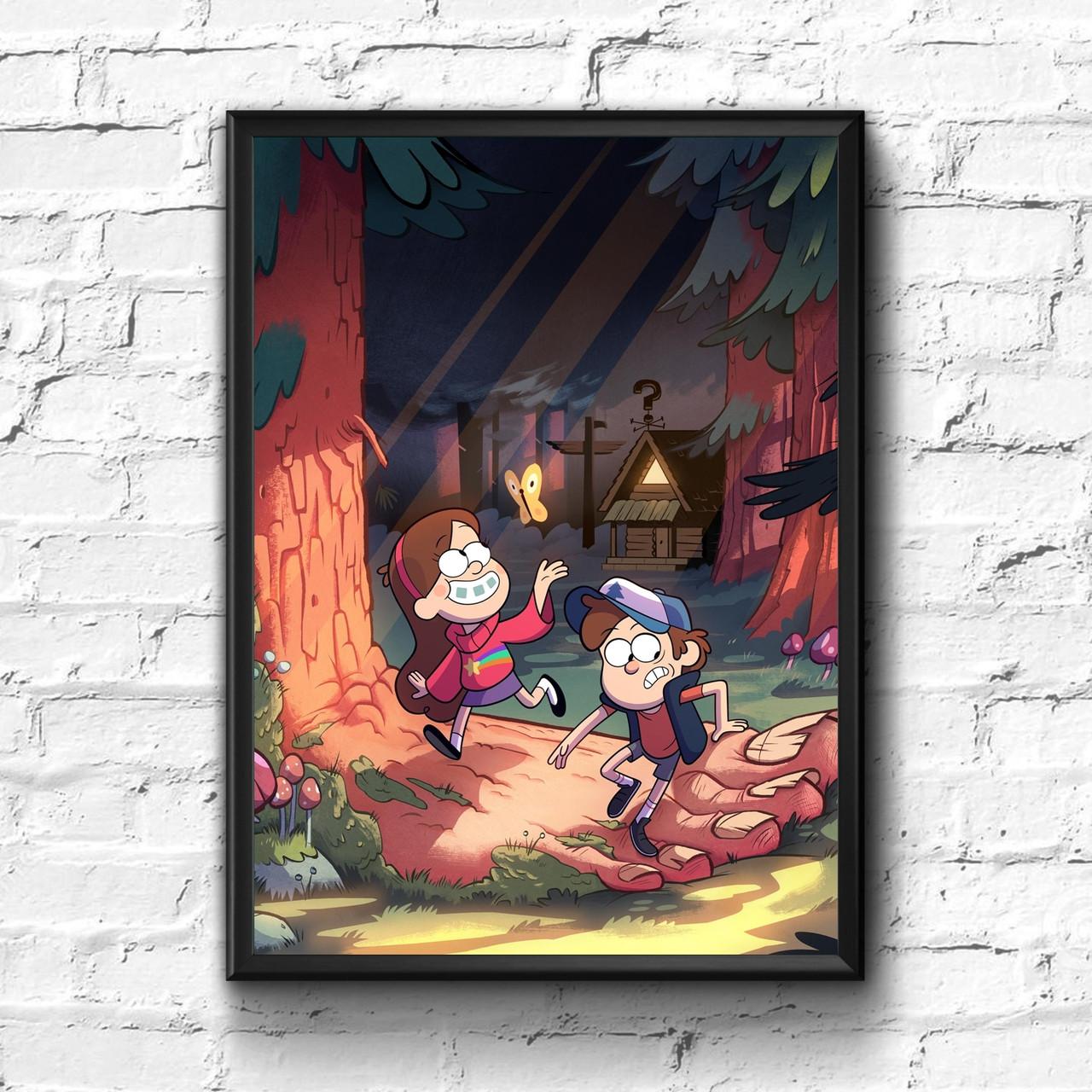 Постер с рамкой Gravity Falls #6