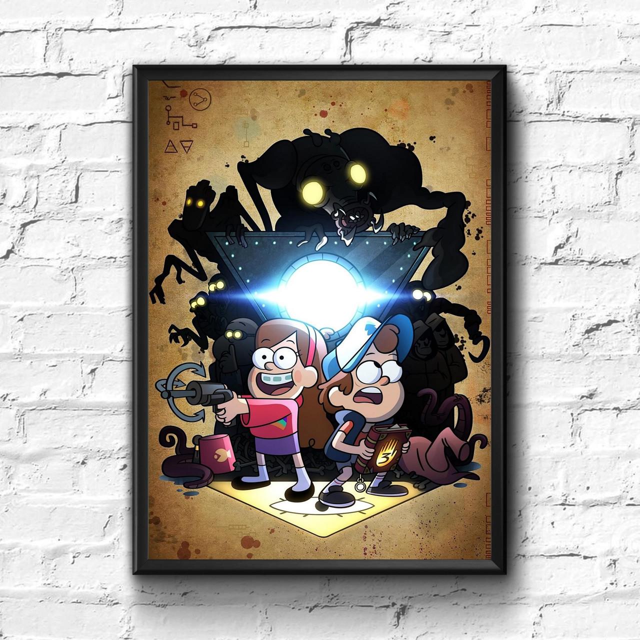 Постер с рамкой Gravity Falls #8