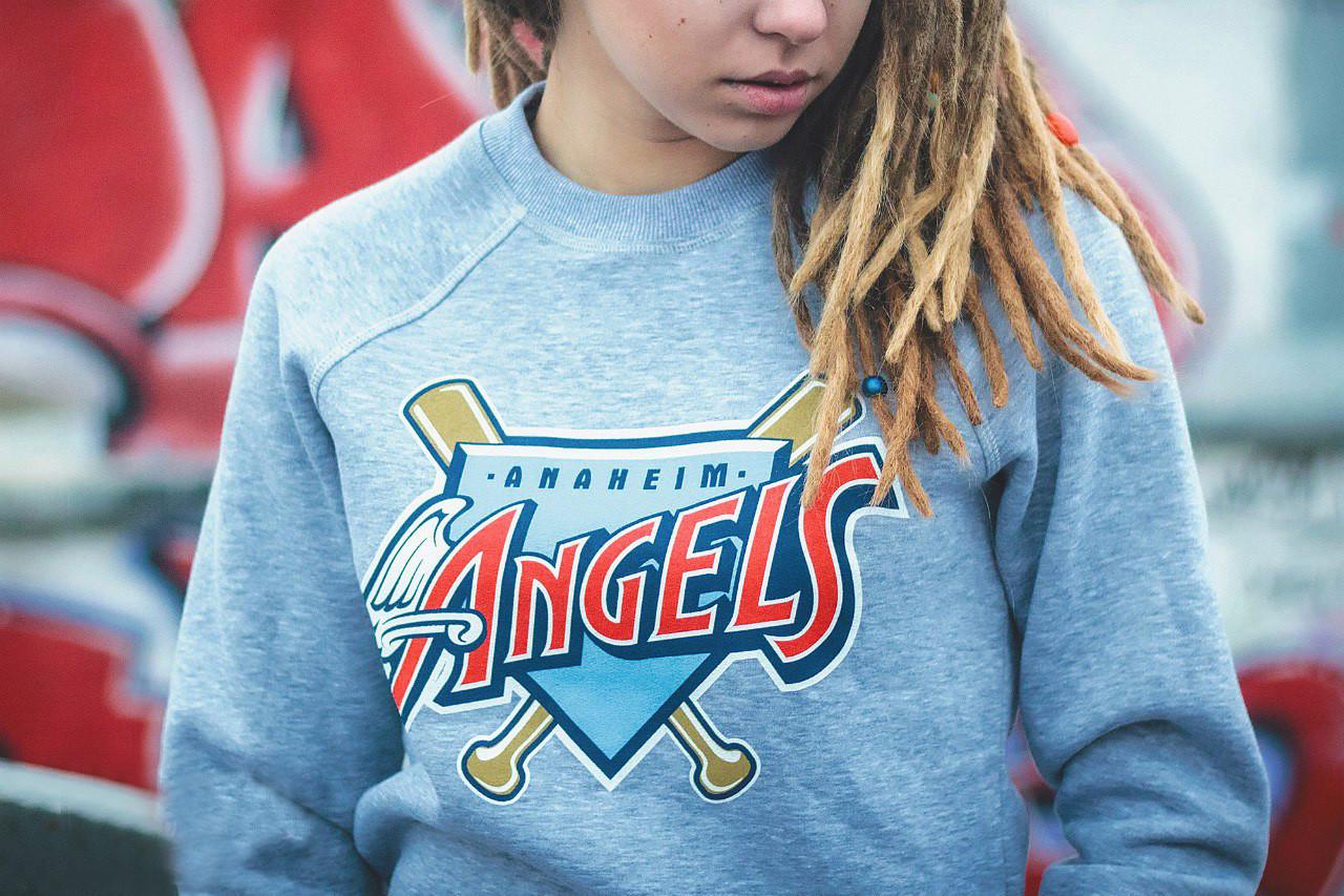 Свитшот теплый Liberty Anaheim Angels Grey, фото 1