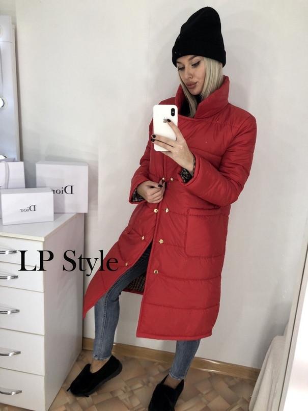 Удлиненная куртка на синтепоне женская (европейка)