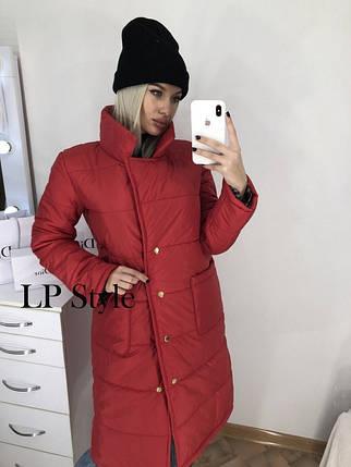 Удлиненная куртка на синтепоне женская, фото 2